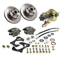 """Classic Performance Products front power disc brake conversion kit for 1967-69 Camaro models with 14"""" wheels  Year One Part# 6474cbk-14 $730. 4/6/15"""