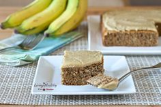 Banana Poppy Seed Cake with White Chocolate Vanilla Bean Frosting • Paleo, grain-free, gluten-free, dairy-free, refined sugar-free by #LivingHealthyWithChocolate