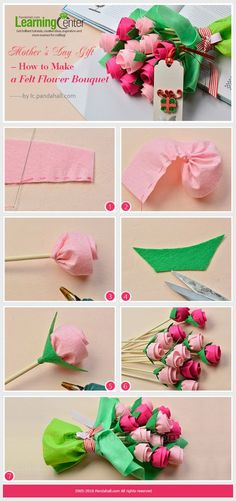Mother& Day Gift - How to Make a Felt Flower Bouquet from .- Geschenk zum Muttertag – Wie man ein Filzblumen-Bouquet von … Mother& Day Gift – How to Make a … - Felt Flower Bouquet, Paper Bouquet, Diy Bouquet, Felt Flowers, Diy Flowers, Fabric Flowers, Paper Flowers, Bouquet Cadeau, Felt Diy