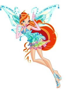 ❤️Fee van de drakenvlam❤️ Bloom verdiend haar Enchantix in seizoen 3 aflevering 16. Haar Enchantix is dan nog niet compleet want zij heeft haar Enchantix niet gekregen omdat ze iemand van haar planeet heeft gered, zij heeft hem verdiend door pure wils kracht. In de eerste film red ze haar koninkrijk en verdiend ze haar volledige Enchantix.