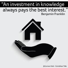 """""""An investment in knowledge always pays the best interest."""" ~ Benjamin Franklin"""