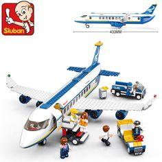 Hot New Original Sluban 483 pcs/set AirBus Model Airplane Building Blocks sets DIY Bricks Classic Toys Compatible With Lego toys