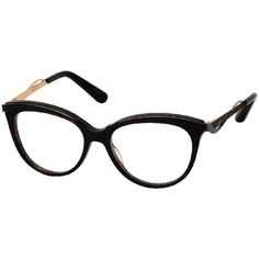 c4751c7a0613 Dior 3280 06NY Dark Havana Black Frame Eyeglasses ( 260) ❤ liked on  Polyvore featuring accessories