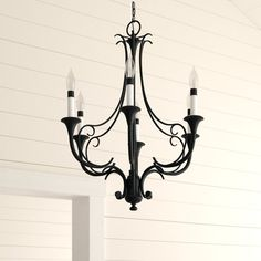 Maiwenn 6-Light Chandelier Chandelier For Sale, 5 Light Chandelier, Sloped Ceiling, Ceiling Lights, Candelabra Bulbs, Traditional Furniture, Birch Lane, How To Distress Wood, Bronze Finish