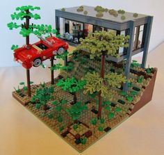 Ferris Bueller's Day Off car scene recreated with LEGO