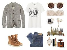 """""""London Monroe"""" by laurettered ❤ liked on Polyvore featuring Jack Wills, Denim & Supply by Ralph Lauren, Uniqlo, FOSSIL, Chanel, Illesteva, Myla, UGG Australia, London and ugg"""