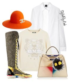 """Untitled #757"" by stylebywho on Polyvore featuring McQ by Alexander McQueen, Joshua Sanders, Kenzo, Chanel and Fendi"