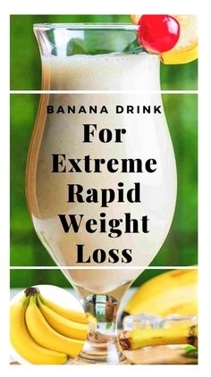"""If you want to lose weight fast now that summer has quickly arrived, it can be easy to get caught up with a fad diet or other """"quick fixes"""" that promise a flat stomach in days. Diet Powerful Banana Drink For Extreme Weight Loss Weight Loss Meals, Weight Loss Blogs, Weight Loss Drinks, Weight Loss Diet Plan, Weight Loss Smoothies, Fast Weight Loss, Losing Weight, Extreme Weight Loss, Weight Gain"""