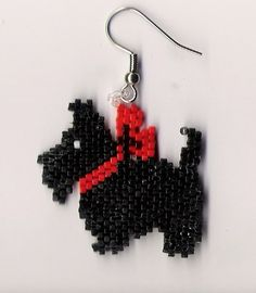 A great pair of hand beaded Scottie Dog dangle by jjsims43 on Etsy, $9.99