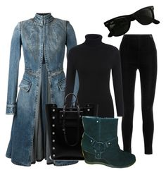 """""""Untitled #1270"""" by srlangley ❤ liked on Polyvore featuring Balmain, Ray-Ban, Alexander McQueen and Mulberry"""