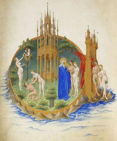 Resultados da Pesquisa de imagens do Google para http://4.bp.blogspot.com/-AXPhhC0TtSA/TjFn3srDVbI/AAAAAAAABNQ/2DDkuCy2fiM/s1600/495px-Folio_25v_-_The_Garden_of_Eden.jpg