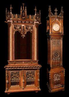 Кудрявцев-иван-иванович-Готический-посудный-шкаф-и-готические-часы.jpg (1149×1600)