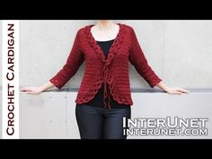 63 Ideas Crochet Lace Cardigan Pattern Ideas For 2019 Crochet Jacket, Crochet Cardigan, Knit Crochet, Crochet Flor, Double Crochet, Easy Crochet, Cardigans Crochet, Crochet Clothes, Lace Cardigan