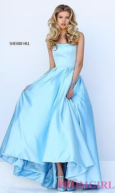Sweetheart Ball Gown Style Sherri Hill Prom Dress with Pockets at PromGirl.com