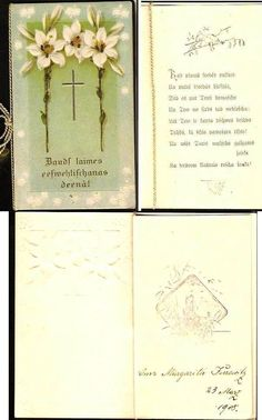 RUSSIA LATVIA Confirmation Vintage Postcard 1908 Unposted (2) #Confirmation