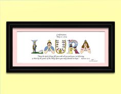 50th wedding anniversary gift personalized using letters from The ...