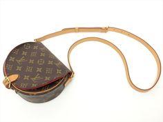 Louis Vuitton Authentic Monogram Tambourin Cross body Shoulder Bag Auth LV #LouisVuitton #ShoulderBag