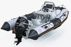 3d model inflatable boat zodiac 550