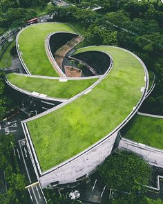 The Nanyang Technological University's School of Art, Design, and Media in Singapore #greenroof designed by CPG Consultants : @ucchow