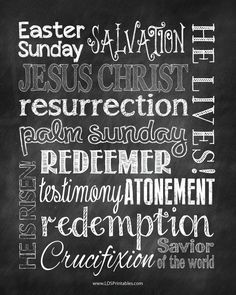 Two free versions of printable subway art for Easter. Chalkboard background. Enjoy!