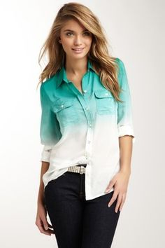 Brooke Dip Dye Silk Shirt