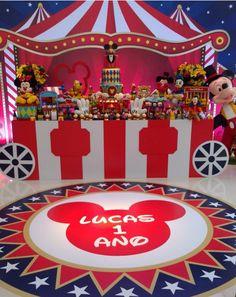 101 fiestas: El Circo de Mickey para tu primer año
