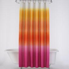 DENY Designs Bird Ave University Of Florida Orange Shower Curtain ($80) ❤  Liked On Polyvore Featuring Home, Bed U0026 Bath, Bath, Shower Curtains, Denyu2026