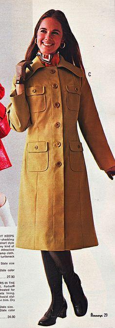 Pennys 70 fw long tan coat