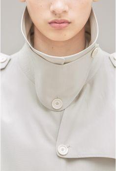 trench coat avec fentes côté - Lemaire Spring 2016