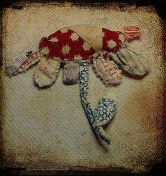 hand stitched flower brooch | viv | Flickr