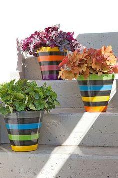 les 25 meilleures id es de la cat gorie peindre des pots de fleurs sur pinterest pots de. Black Bedroom Furniture Sets. Home Design Ideas