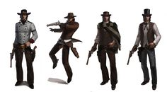 Six Guns MC outfit variants by texahol on DeviantArt