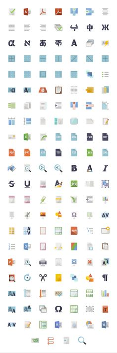 Flat Text - icon sets