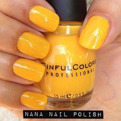 Nana Nail Polish — Sinful Colors - Pull Over Sinful Colors Nail Polish, Yellow Nail Polish, Nail Colors, Gel Polish, Essie, Opi, Hot Nails, Hair And Nails, Make Up Inspiration