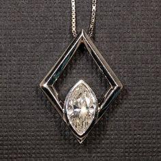 Contemporary Marquise Diamond Pendant