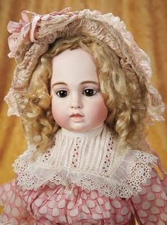 The Empress and the Child - Antique Dolls: 107 French Bisque Bebe by Leon Casimir Bru with Depose Mark