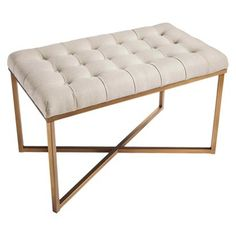 I'd love 2 of these tufted benches for the end of our bed and to pull out in the living room for extra seating. <3