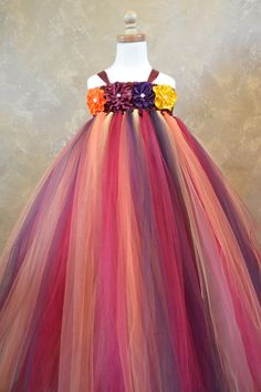 Shades of Autumn tutu dress by TutuSweetBoutiqueINC on Etsy MY FAVORITE AUTUMN COLORS FOR NORA