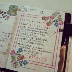 Looking forward to this. Calendar Journal, Journal Paper, Hobonichi Techo, Doodle Art Journals, School Planner, Life Journal, Notes Design, Planner Organization, Smash Book