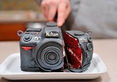Red velvet camera cake