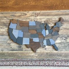 Looking for a wooden map of the United States with each state highlighted on the map? Here it is, available in 3 different sizes. We cut this out of Baltic Birch plywood for strength and durability