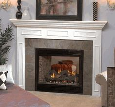 "Empire Tahoe Premium Direct Vent Propane See-Thru Fireplace - 36"" - DVP-36-SP32EP"