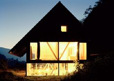 this house in northern switzerland by local architect pascal flammer frames views of a
