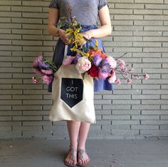 Modern Geometric Cotton Tote Bag I Got This by ScoutandLilly, $10.00