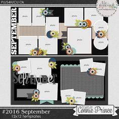 #2016 September - Template Pack (CU Ok) by Connie Prince. Includes 4 12x12 templates or 2 12x24 templates. Templates are saved as layered PSD & TIF files as well as individual PNG files. Also, includes layered .page files for use with SBC+3, SBC 4 & Panstoria Artisan software. Scrap for hire / others ok. Commercial Use Ok, NO credit required.