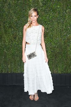 Poppy Delevingne in Chanel - Chanel & Charles Finch Pre-Oscar Dinner.  (February 21, 2015)