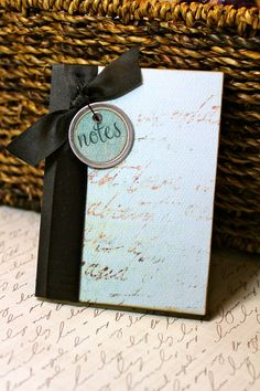 Altered Mini Composition Journal Notebook - Turquoise. $10.00, via Etsy.