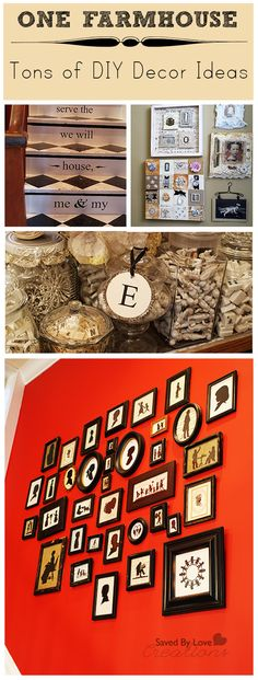 Amazing #farmhouse #vintagedecor ideas with gallery wall, bathroom decor, harlequin painted stairs and more @savedbyloves