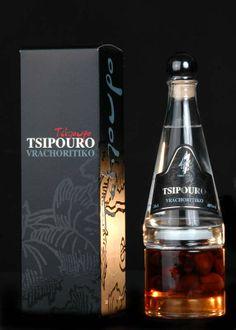 tsipouro vrachoritko with kalamono olives Voss Bottle, Water Bottle, Bottles, Whiskey Bottle, Frozen, Spices, Greek, Herbs, Lights