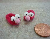 Reddish Googlie Eyed Slippers Dollhouse Miniature 1 - 12 scale doll house printers drawer